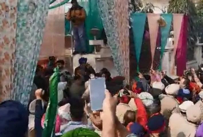 फिरोजपुर में भाजपा प्रदेश प्रधान का घेराव