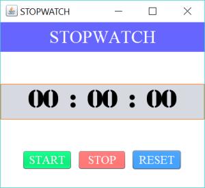 stopwatch reset