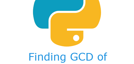 Finding GCD of two numbers in python
