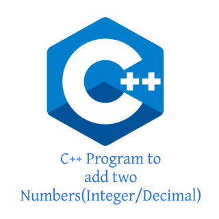 C++ Program to add two Numbers(Integer/Decimal)