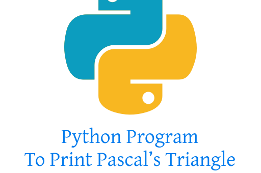 Python Program To Print Pascal's Triangle