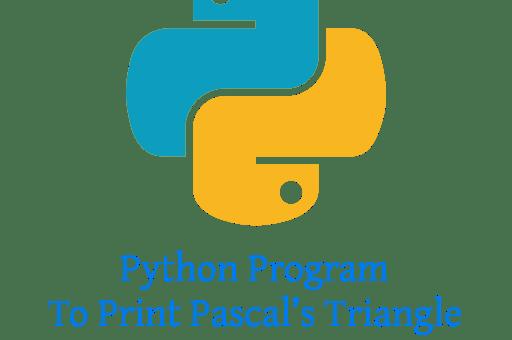 Python Program To Print Pascal's Triangle