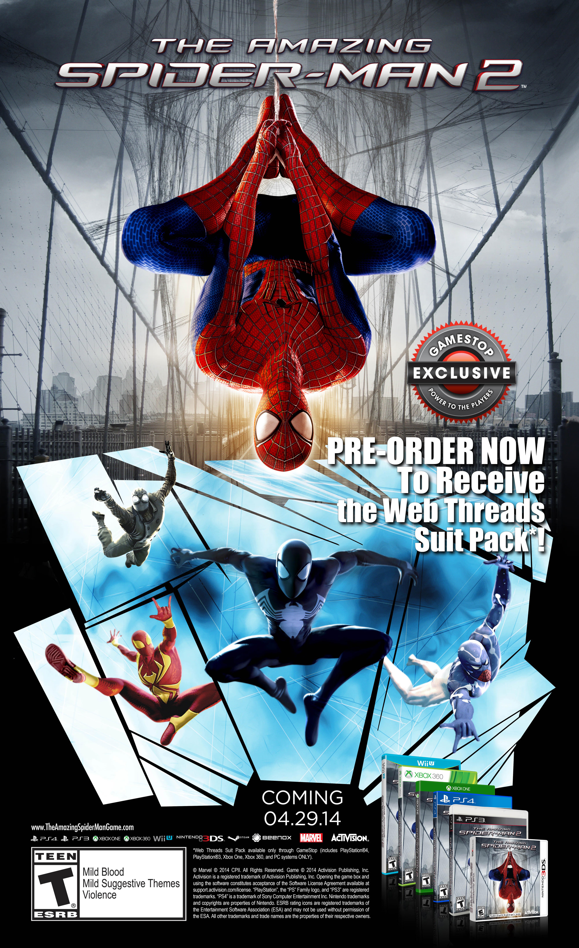 The Amazing Spider Man 2 Video Game Release Date And Pre Order Bonuses Revealed Spider Man News