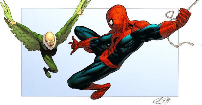 vulture-vs-spider-man-by-spidermanfan2099