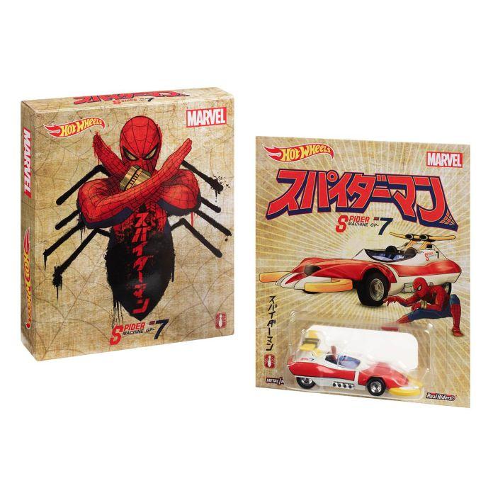 Mattel - Hot Wheels - Hot Wheels Marvel Spider Machine GP‑7 - SDCC 2019 Exclusive - 01