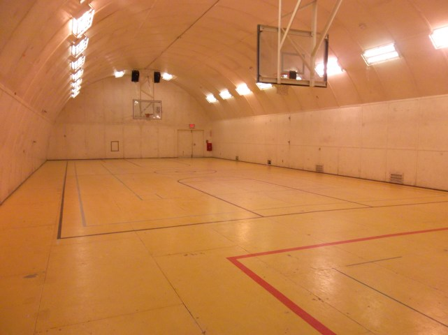 The big gym where I have played soccer, volleyball, and- most recently- dodgeball.