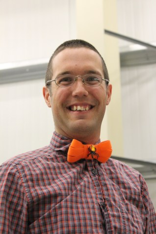 Steve and his velcro bow tie (with SPIDER bling too!)