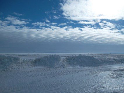 Looking out over the sea ice from the Obs Tube.