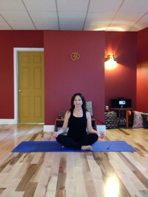 Amy making space in her mind for creativity at Nova Yoga