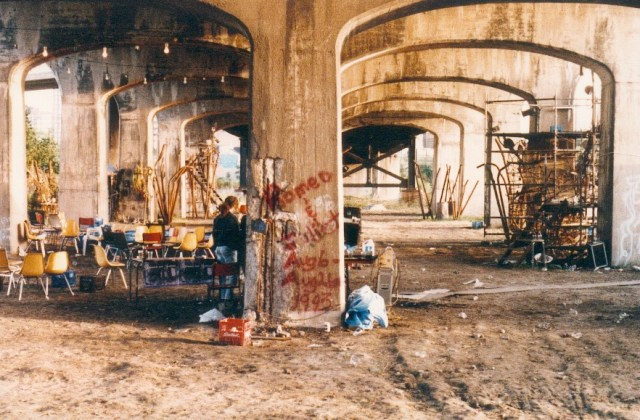 Romeo and Juliet under the Bathurst Street Bridge. 1993.