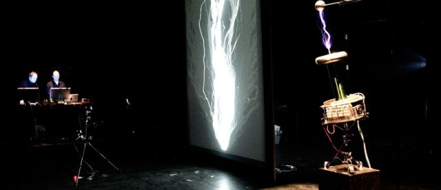 POWEr : audiovisual performance by Alexandre Burton and Julien Roy at ISEA in Vancouver 2015.