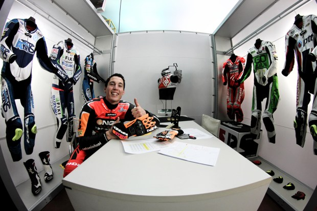 Aleix Espargaro at Spidi - March 2014