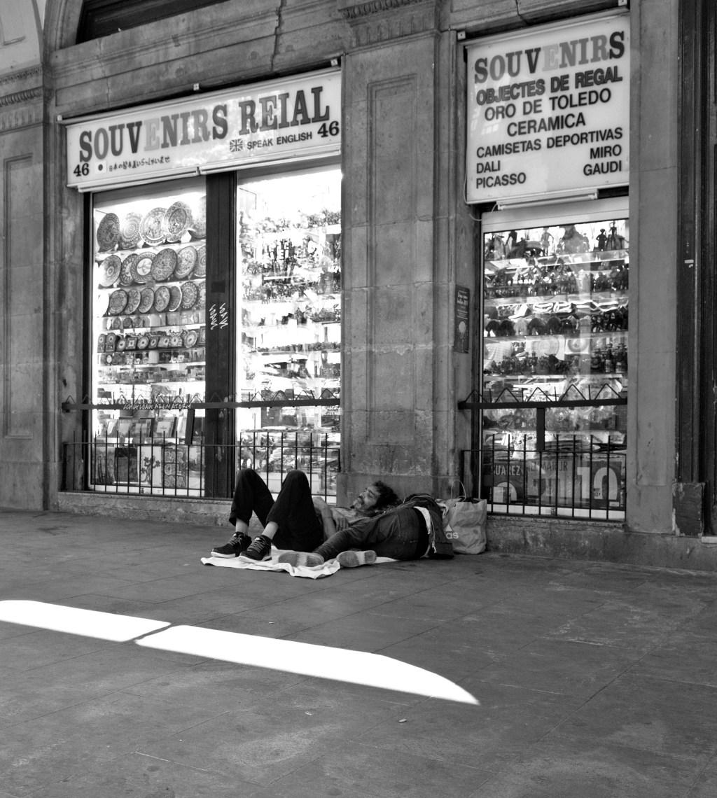 Barcelona City poor young people