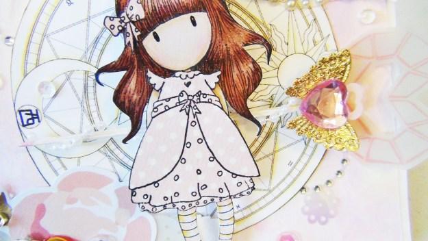 @spiegelmomscraps @amylee @thecraftbunny, #DIY #cardmaking #Gorjussgirl #stamp #ink #fairy #sequins #sunnydays #mirrormirror #silversequins #flower #coloring