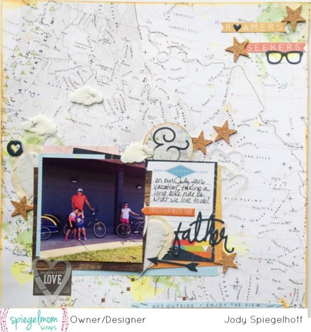 @fancypantsdesigns @spiegelmomscraps @jodyspiegelhoff @shimmerzpaintz @shimmerzpaints, #spiegelmomscraps #shimmerzpaintz #scrapbooking #scrapbooklayout #masculine #fancypantsdesigns #map #mixedmedia