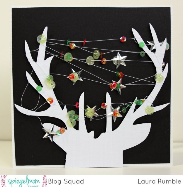 How To Make Christmas Cards With Reindeer Die Cuts