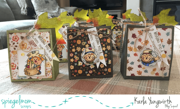 @spiegelmomscraps @jodyspiegelhoff @echopark @bugaboostamps @spellbinders @prettycutestamps @pinkandmainstamps @kaisercraft @chicnscratch #karlayungwirth #spiegelmomscraps #smssequins #sequins #thanksgiving #mychicknscratch #youtubevideo #treatboxes #diy #thankful #echopark #fall #stamping #prismacolor