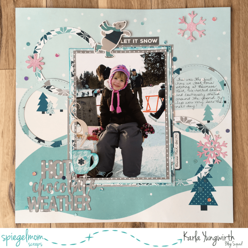 @jodyspiegelhoff @spiegelmomscraps @echoparkpaper #smssequins #sequins #scrapbooking #scrapbooklayout #echoparkpaper #hellowinter #sketch #12x12 #hotchocolateweather #cricutexplore #diecut #winter #papercrafting