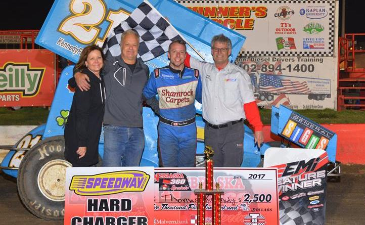 Thomas kennedy, i-80 speedway, spieker promotions, bugeater bash, nebraska 360 sprints,
