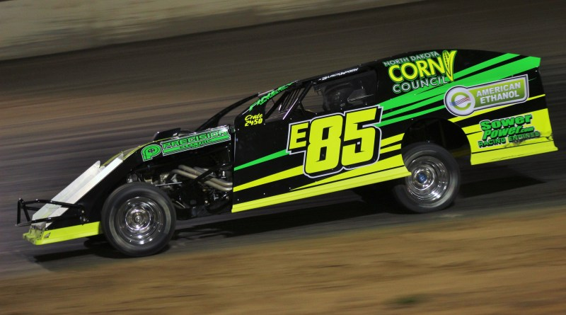 Jason Strand, E85 Racing, IMCA Modified, North Central Speedway, North Dakota Corn Growers, North Dakota Corn Council, American Ethanol