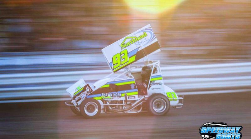 Kelsi Pederson, Norman County Raceway, POWRi Minn-Kota Lightning Sprints