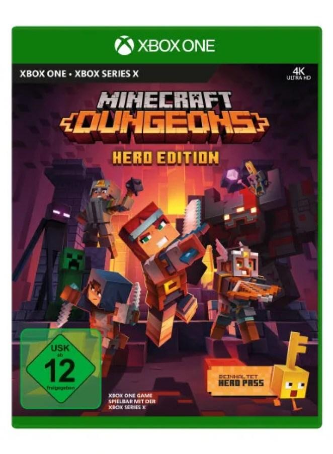 Minecraft Dungeons Hero Edition als Disc und Creeping Winter DLC ab sofort verfügbar DISC