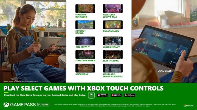 Xbox Touch Controls on Mobile