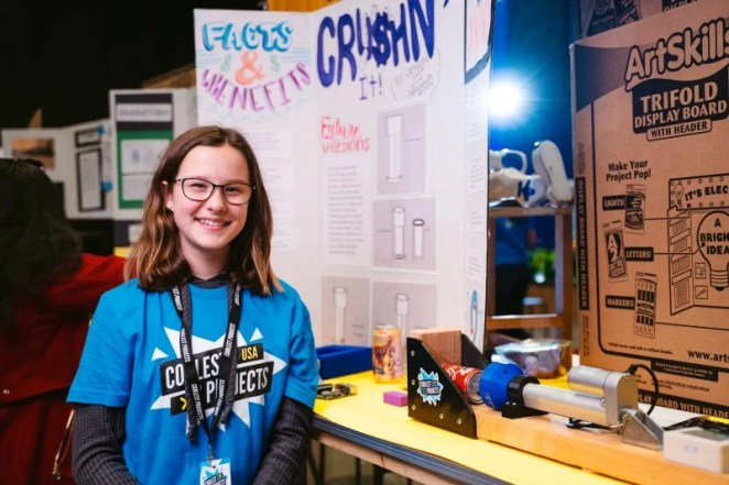 A Coolest Projects participant, a future engineer we're celebrating on today's This is Engineering Day