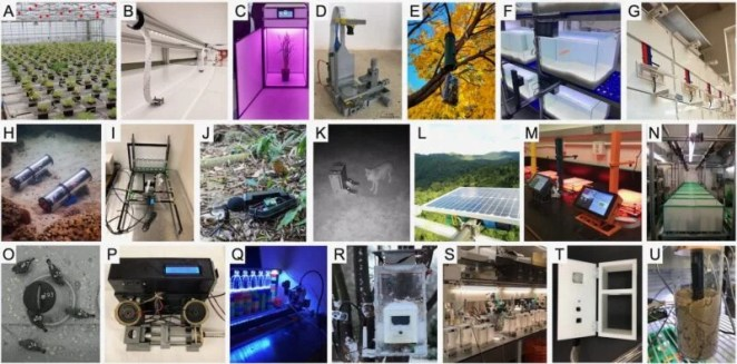Thumbnail images of various scientific applications of Raspberry Pi