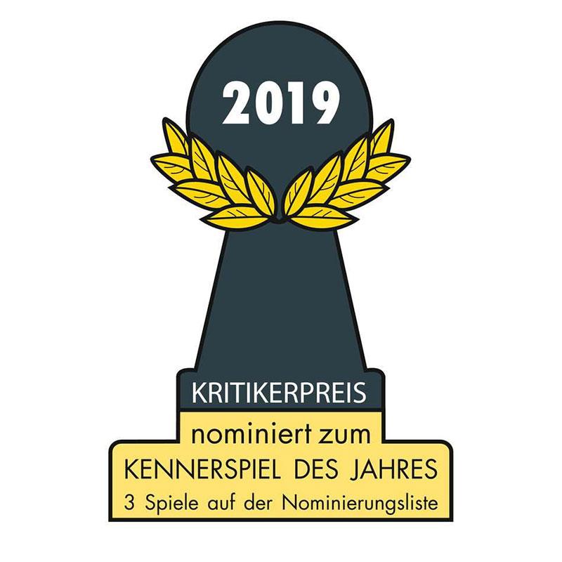 nominiert zum Kennerspiel des Jahres 2019