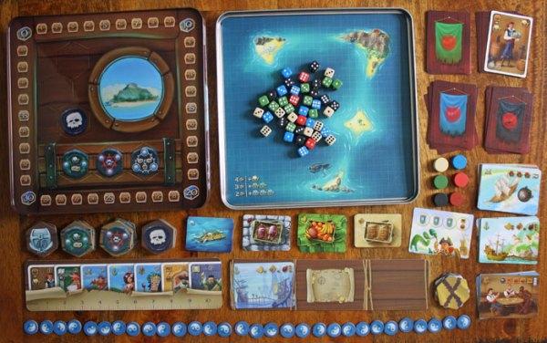 Piraten der Sieben Weltmeere - Spielaufbau