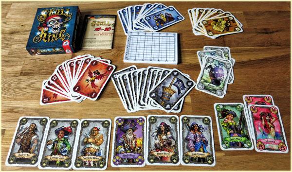 Skull King Kartenspiel - Spielaufbau