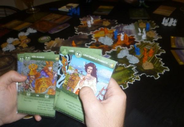 Brettspiel Inis Karten