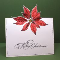 A one layer card using Christmas Star by Penny Black