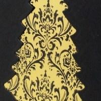 Easy Peasy Christmas Cards #27 ~ Black & Gold, Noel Redux
