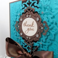An elegant Thank You and thoughts on Sizzix Texturz Plates