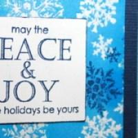 Easy Peasy Christmas Cards 50 ~ Peace & Joy