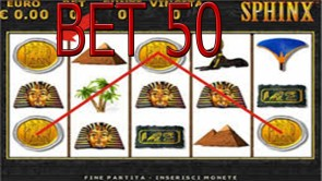sphinx bonus bet 50 trucchi slot machine bar spike
