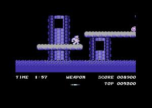 En av få ekte plattformsekvenser i spillet.