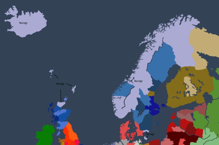 Norgesveldet ved Bersi IIs maktovertakelse.