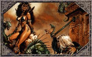 VGA-fantasykunst fra Dark Queen of Krynn.