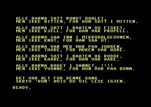 Denne samlingen Alle Barna-vitser fant vi på en annen Data-Tronic-kassett. Noen av disse er muligens litt upassende, du får sørge for sensuren selv.
