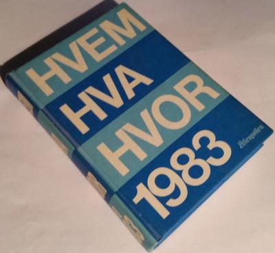 Hvem Hva Hvor 1983.
