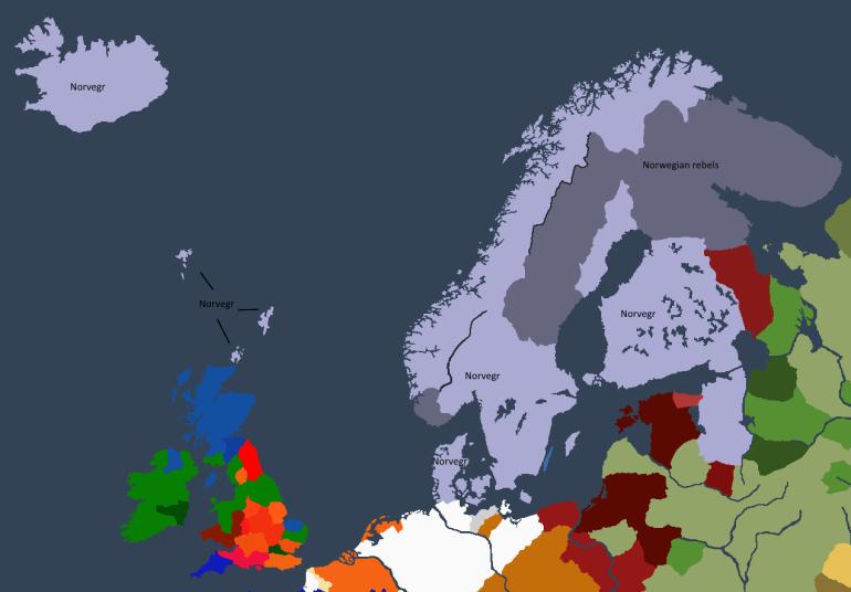 Norgesveldet ved Øystein Is tronbestigelse.