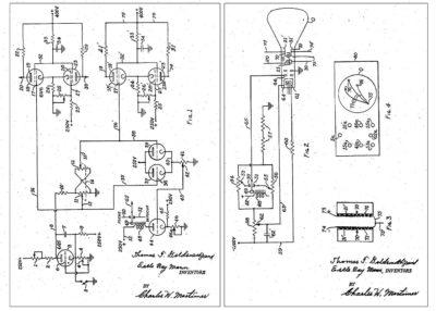 Utdrag fra patenten til Cathode Ray Amusement Device.