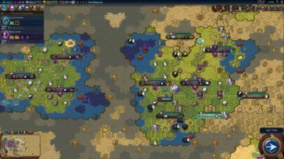 Spillet ser også glimrende ut i strategi-modus.