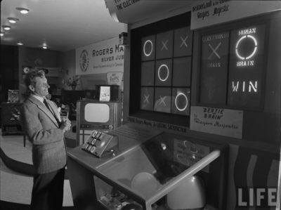 Bertie the Brain på Canadian National Exhibition i 1950. Bilde: Life.