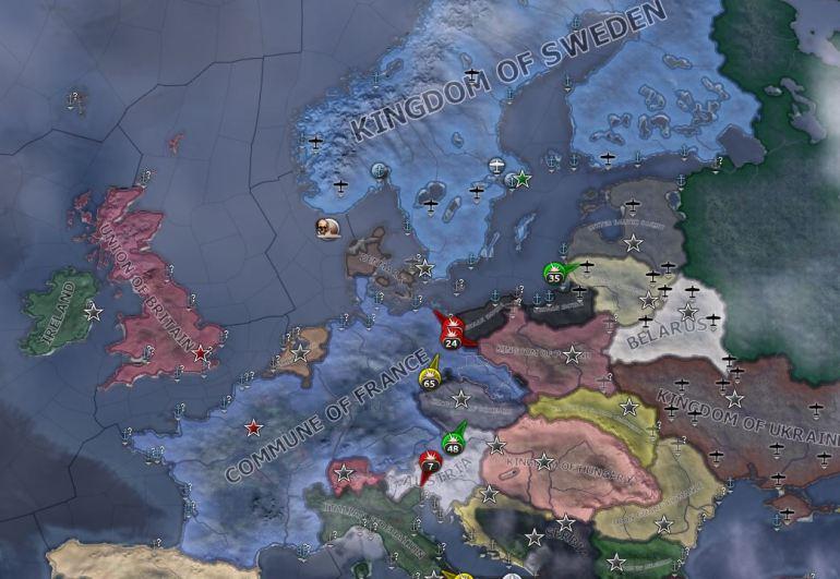 Det frie Europa på sine knær.
