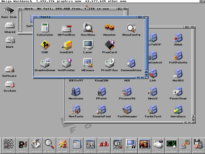 Amiga Forever har en grei Workbench 3.x-installasjon.