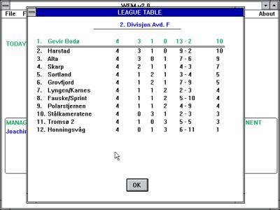 Gevir Bodø gjør det godt i 2. divisjon avdeling F.